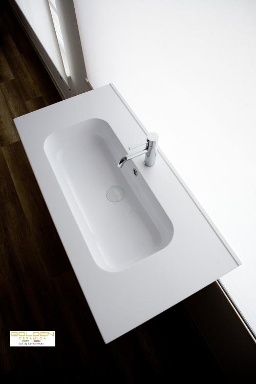 lavabo in teck-stone  IDEA 75 prof 46