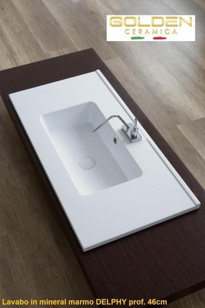 lavabo in teck-stone  DELPHY 100 prof 46