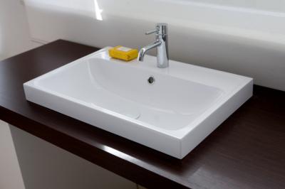 lavabo in teck-stone 60x40