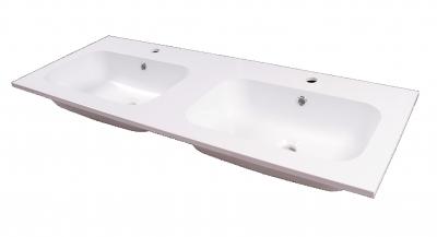 lavabo in teck-stone  IDEA 120 doppia vasca prof 46