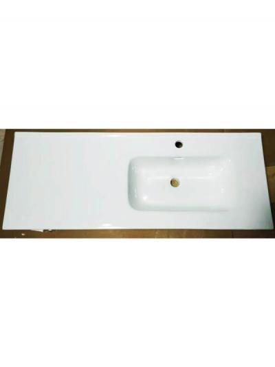 Lavabo da mobile con vasca a destra ANDY 120 x 46 cm