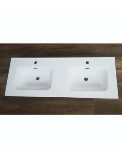 Lavabo da mobile con doppia vasca ANDY 120 x 46 cm