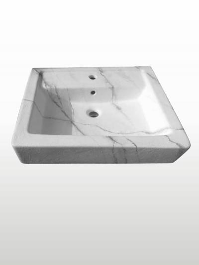 Lavabo da appoggio EFFE effetto pietra cm. 60x48 altezza 15