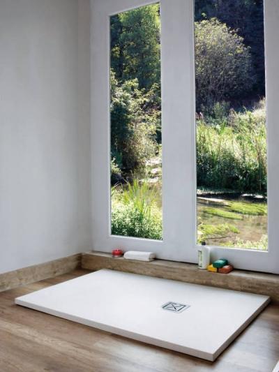 Piatto doccia in teck-stone (resina) cm 70x90 h3