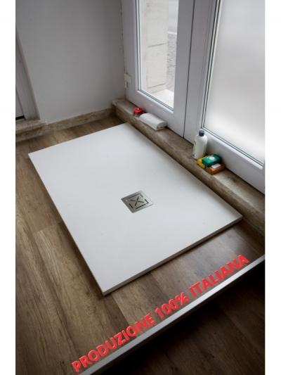 Piatto doccia in teck-stone (resina) cm 90x100  x h3